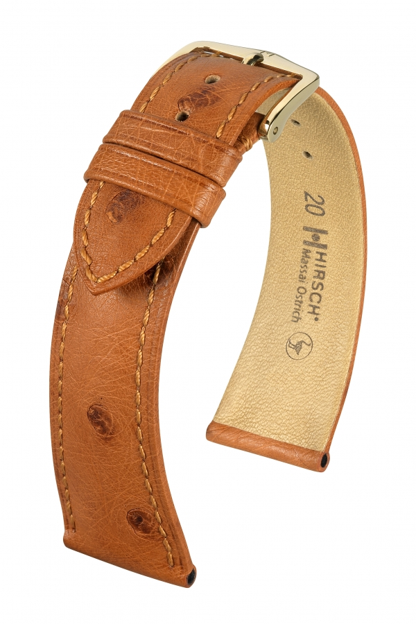 watch strap Hirsch Massai Ostrich