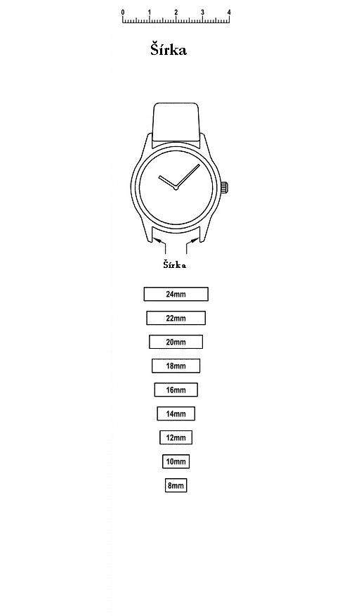 Ako určiť šírku, dĺžku - remienky na hodinky