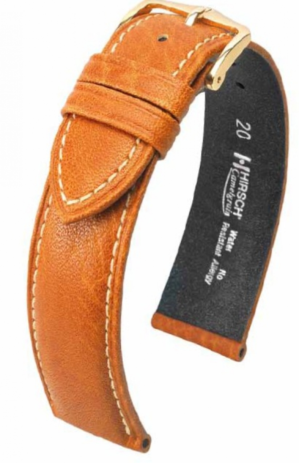 watch strap Hirsch Camelgrain